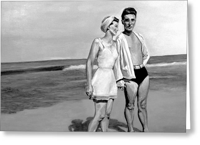 Beach Greeting Card by Natalie Mae Richards