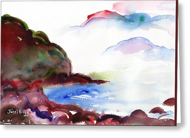 Beach Near Seattle Greeting Card by Janel Bragg