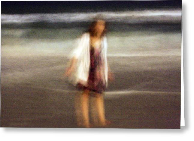 Beach Night 3 Greeting Card