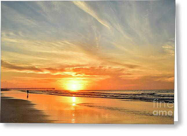 Beach Of Gold Greeting Card