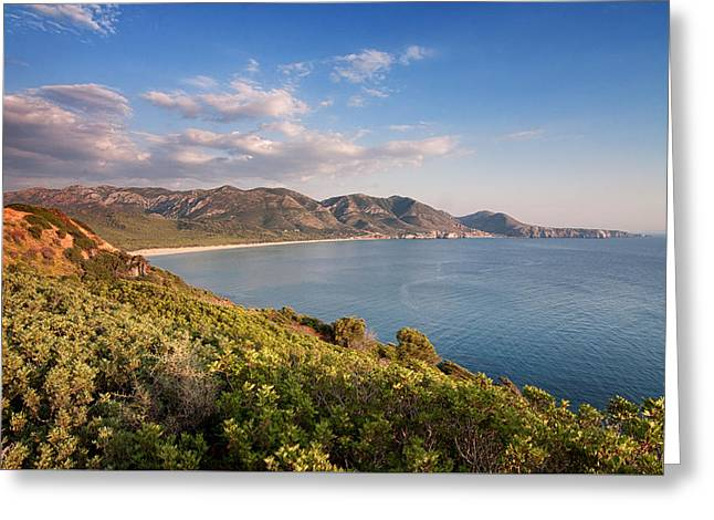 Greeting Card featuring the photograph Beach Of San Nicolao by Laura Melis