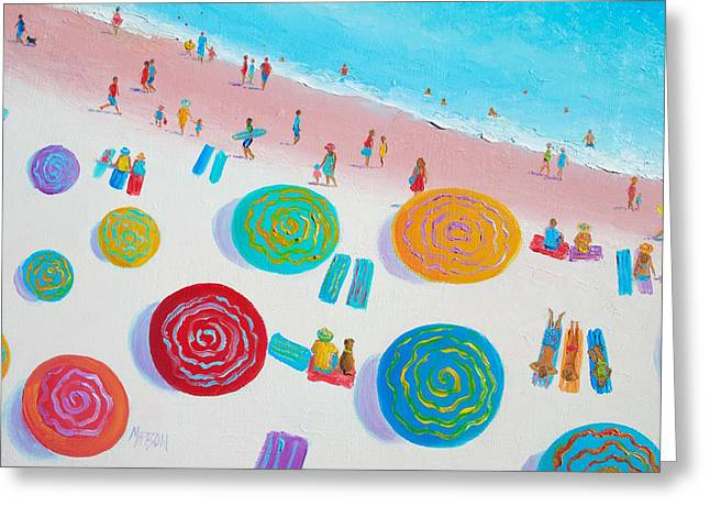 Beach Painting - A Walk In The Sun Greeting Card