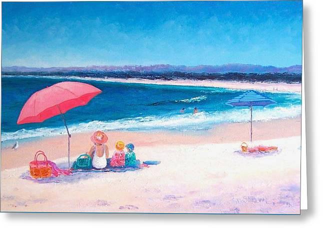 Beach Painting - Beach Umbrellas Greeting Card