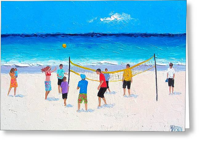 Beach Painting - Beach Volleyball   Greeting Card