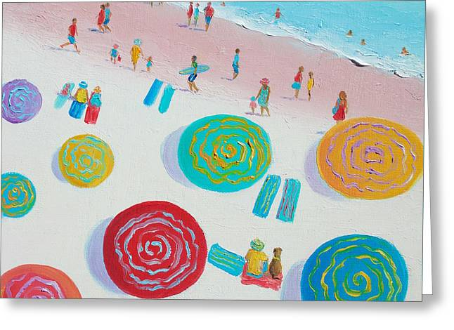 Beach Painting - First Day Of Summer Greeting Card by Jan Matson