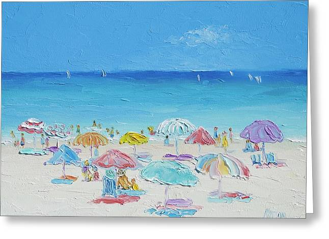 Beach Painting - Summer Paradise Greeting Card by Jan Matson