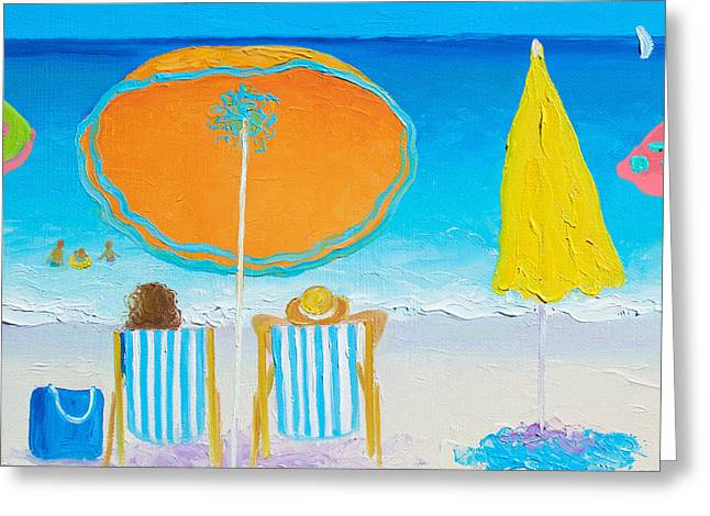 Beach Painting - Sun Filled Days Greeting Card by Jan Matson