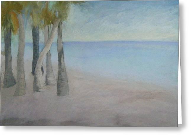 Coastline Pastels Greeting Cards - Beach Palms Greeting Card by Gail Wheeler