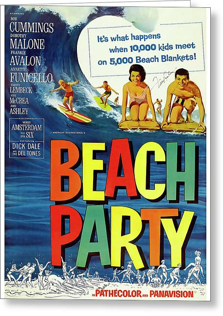 Beach Party Lobby Promo With Frankie Avalon Autograph  1963 Greeting Card by Daniel Hagerman