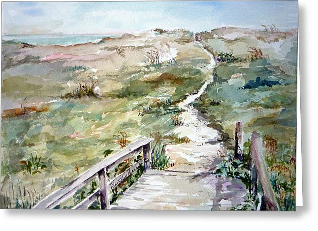 Beach Path Greeting Card by Dorothy Herron