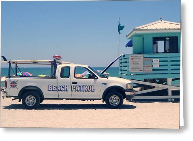 Beach Patrol Greeting Card by Steven Scott