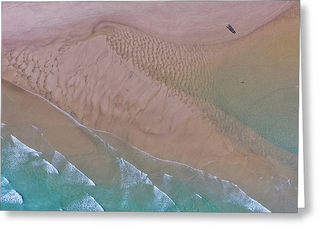 Beach Patterns At North Point On Moreton Island Greeting Card