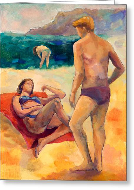 Beach People  By Ivailo Nikolov Greeting Card by Boyan Dimitrov