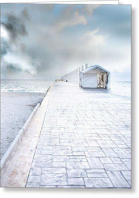 Beach Pier Greeting Card