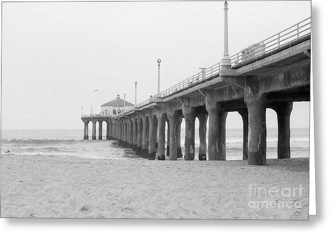 Beach Pier Film Frame Greeting Card