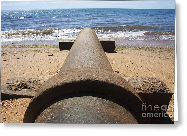 Beach Pipeline Greeting Card by Jorgo Photography - Wall Art Gallery