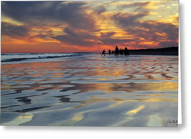 Beach Photograph Digital Greeting Cards - Beach Play at Dusk Greeting Card by Phill  Doherty