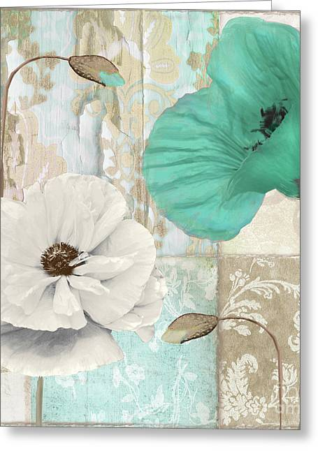 Beach Poppies Iv Greeting Card by Mindy Sommers