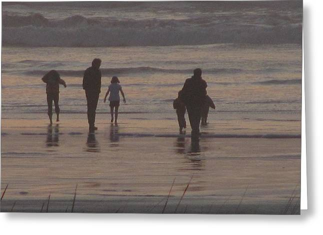 Beach Quality Time Greeting Card by Gregory Smith