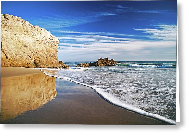 Beach Reflections Greeting Card by Aron Kearney