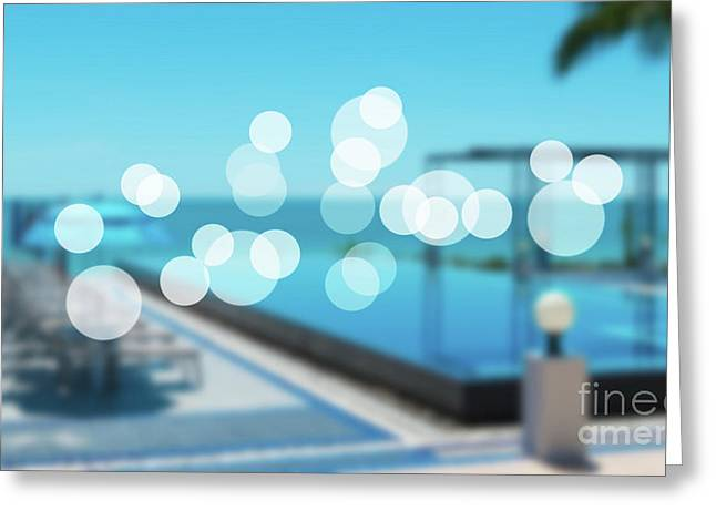 Greeting Card featuring the photograph Beach Resort Concept by Atiketta Sangasaeng