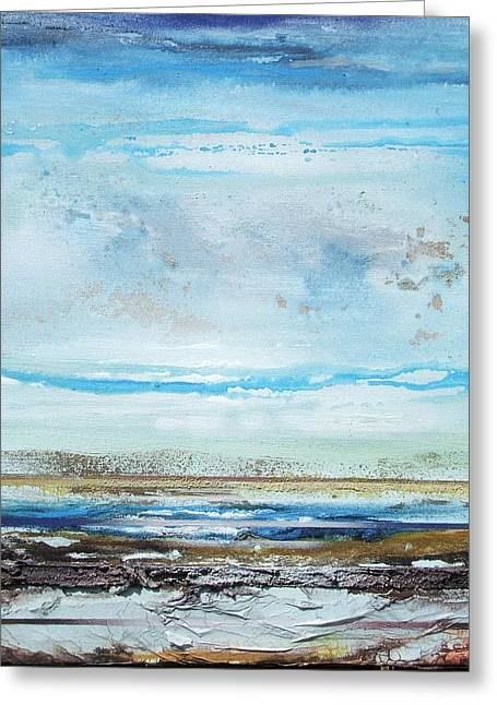 Beach Rhythms And  Textures Northumberland Greeting Card by Mike   Bell