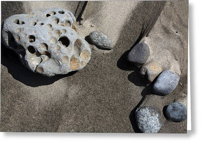 Greeting Card featuring the photograph Beach Rocks by Joanne Coyle