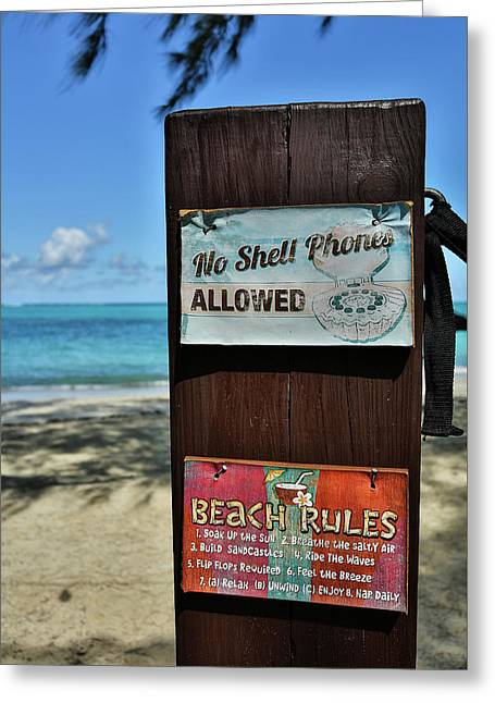 Beach Rules Greeting Card