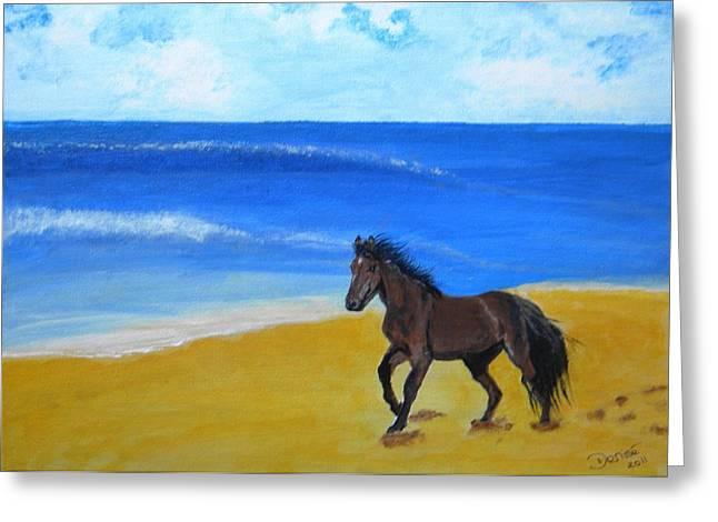Beach Run Greeting Card