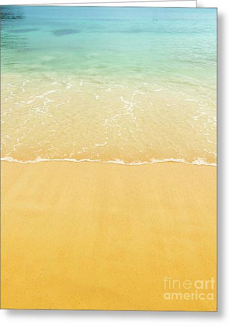 Beach Sand Background Greeting Card by Tim Hester