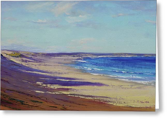 Beach Sand Shadows Greeting Card
