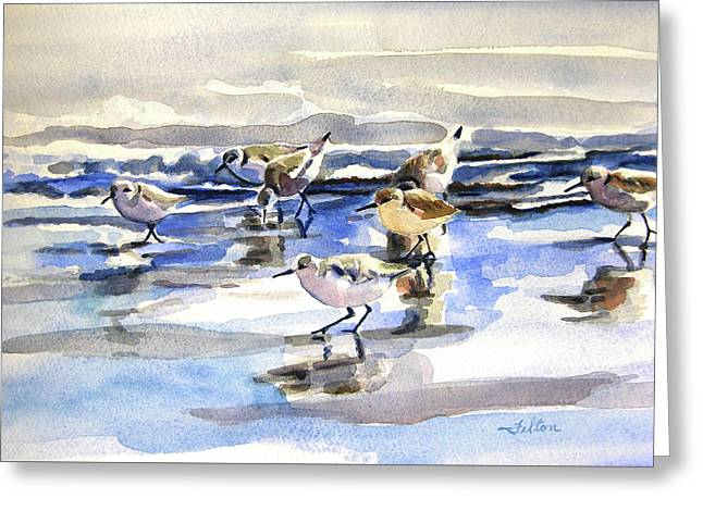 Beach Sandpipers  Greeting Card