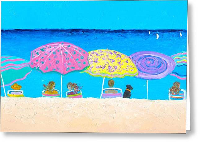 Beach Sands Perfect Tans Greeting Card by Jan Matson