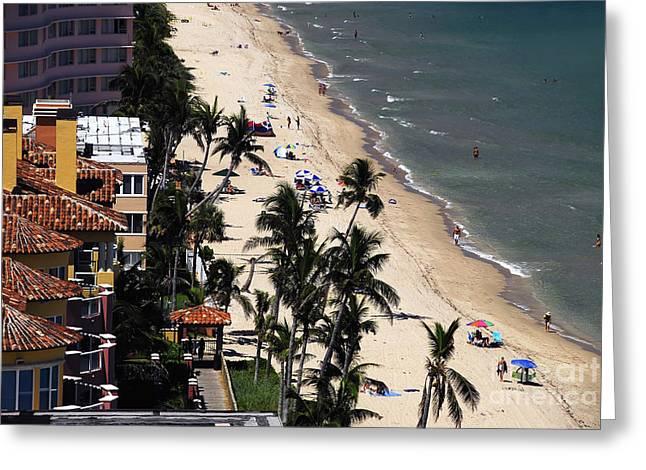 Beach Scene Greeting Card by David Lee Thompson
