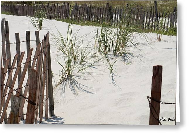 Beach Scene Greeting Card by Dennis Stein