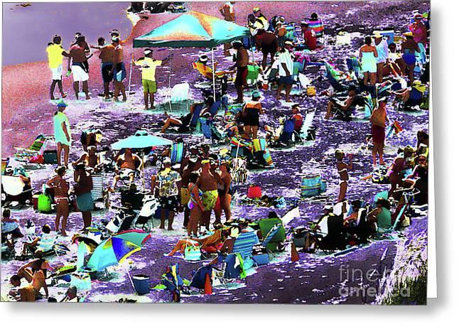 Beach Scene Solarized Greeting Card