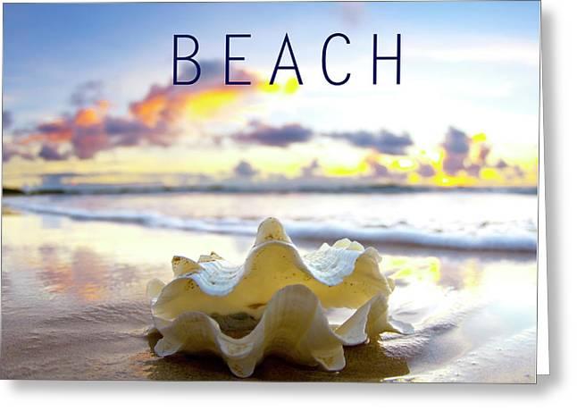 Beach. Greeting Card