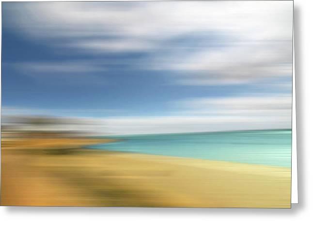 Beach Seascape Abstract Greeting Card by Gill Billington
