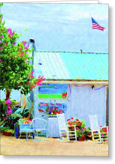 Beach Shack Greeting Card by Desiree Paquette