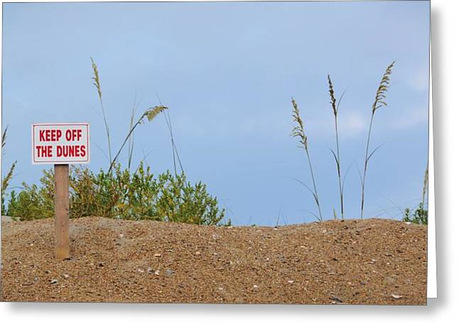 Beach Signs Greeting Card by JAMART Photography