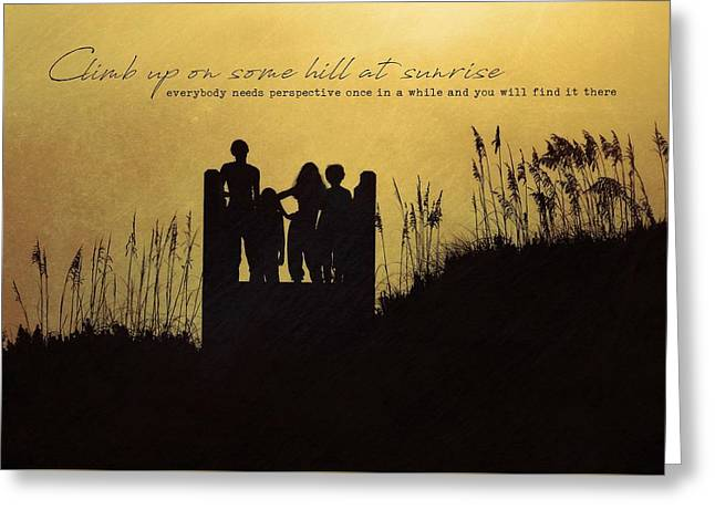 Beach Silhouette Quote Greeting Card by JAMART Photography