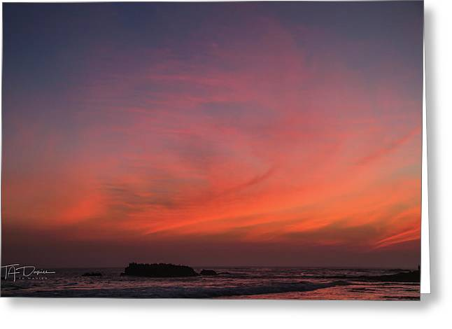 Beach Sky Blaze Greeting Card