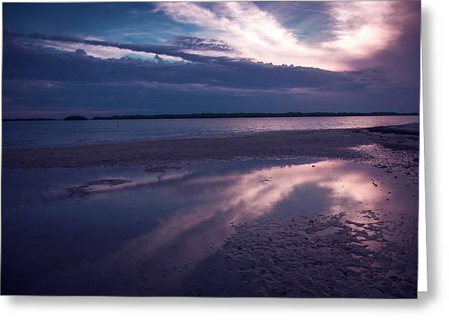 Beach Sky Greeting Card by Michael Frizzell