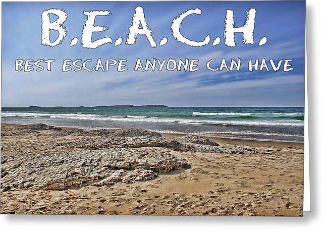Greeting Card featuring the photograph B.e.a.c.h. by Colin Clarke
