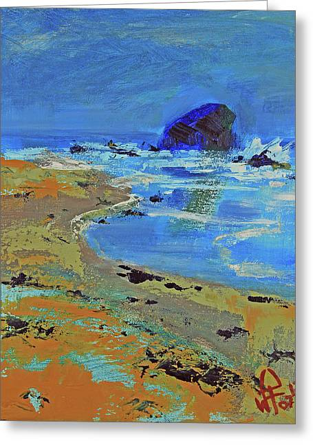 Greeting Card featuring the painting Beach Solitude by Walter Fahmy