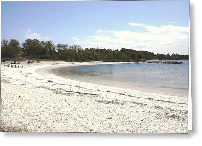 Beach Solomons Island Greeting Card
