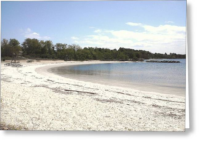 Beach Solomons Island Greeting Card