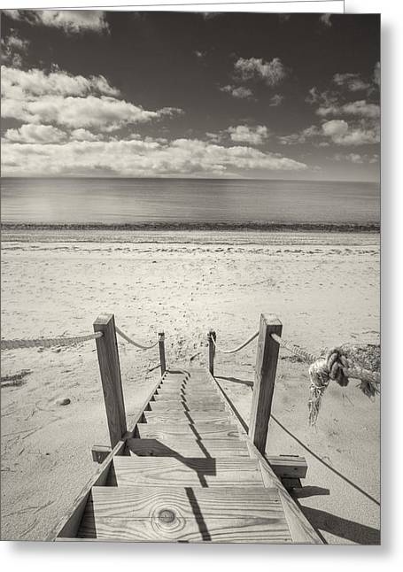 Beach Stairs Wellfleet Greeting Card by Dapixara Art