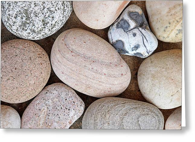 Beach Stones Greeting Card by Gill Billington