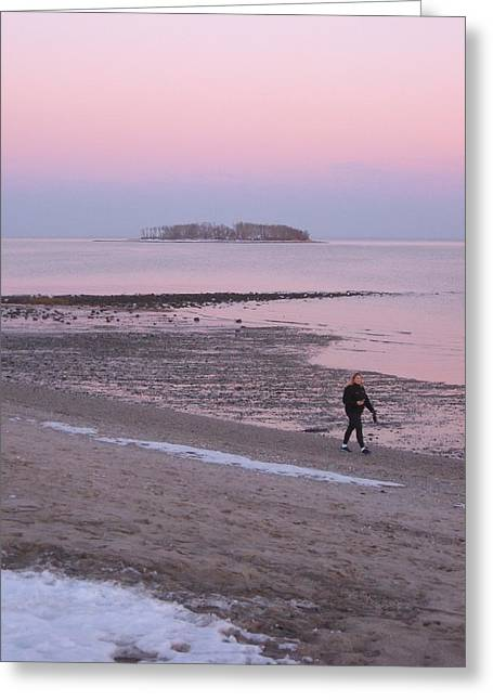 Beach Stroll Greeting Card